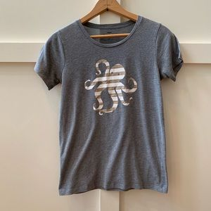 j crew striped octopus collector tee